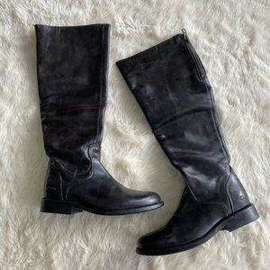 Bed Stu Abbey Black Tall Zip Back Boot Boots 7.5